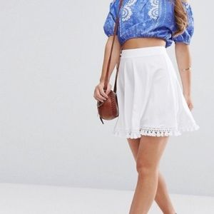 NWT ASOS Fringe Mini Skirt